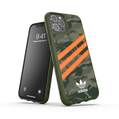 adidas OR Moulded Case PU FW20/SS21 for iPhone 11 Pro camo patteren/signal orange