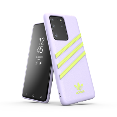 adidas OR Moulded Case PU Woman SS20 for Galaxy S20 Ultra purple tint/hi-res yellow