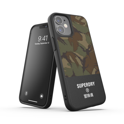 Superdry Moulded Case Canvas FW20/SS21 for iPhone 12 mini camouflage (green)