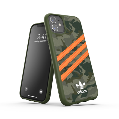 adidas OR Moulded Case PU FW20/SS21 for iPhone 11 camo patteren/signal orange