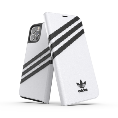 adidas OR Booklet Case PU FW20/SS21 for iPhone 12 / 12 Pro white/black