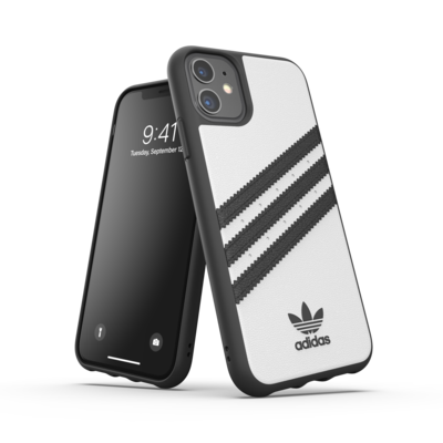 adidas OR Moulded Case PU FW19/SS21 for iPhone 11 white/black