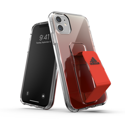 adidas SP Clear Grip Case SS20 for iPhone 11 solar red