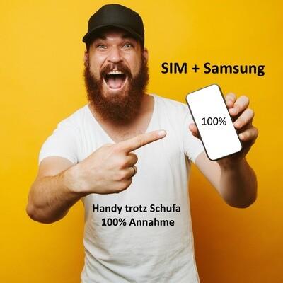 Schufafrei + SIM + Samsung Galaxy (100% Annahme)