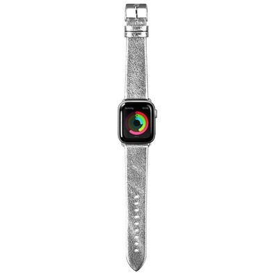 Laut Metallic Leather for Apple Watch 38mm silver colored