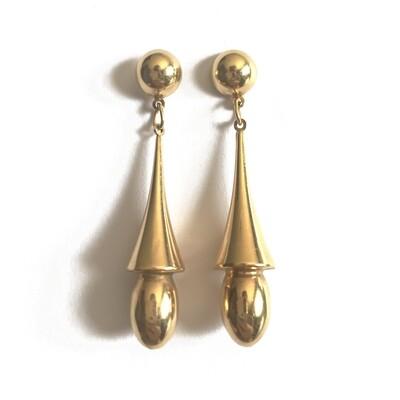 Circa 1950 Torpedo Drop Earrings