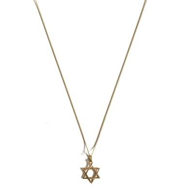 Circa 1970 Gold Star Of David Pendant