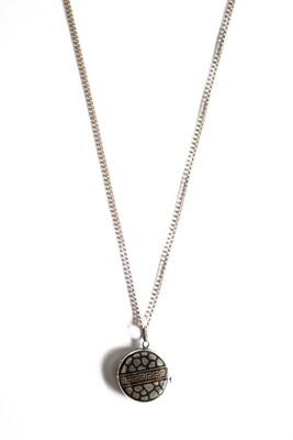 Circa 1930 Guilloche Enameled Silver Locket Pendant