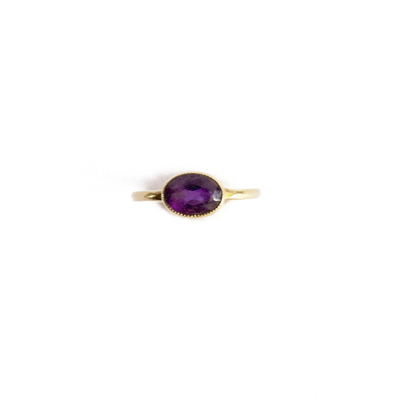 Circa 1910 Amethyst Ring
