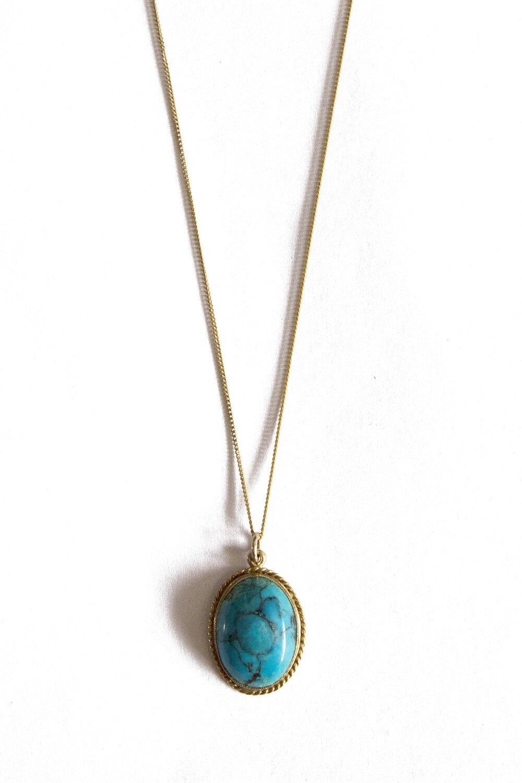 Circa 1970 Turquoise Pendant