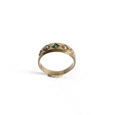 Circa 1900 Turquoise Pearl