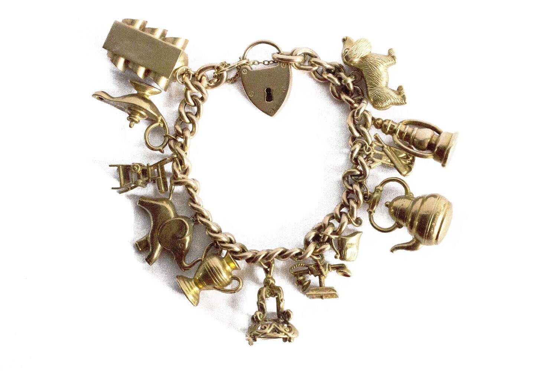 Circa 1975 Full charm Bracelet