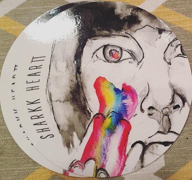 Sharkk Heartt Sticker