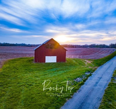 Barn at Sunset Digital Image