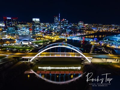 Nashville Night Time Canvas 24x36 (other sizes available)