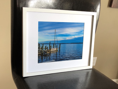 Sailboat framed photo