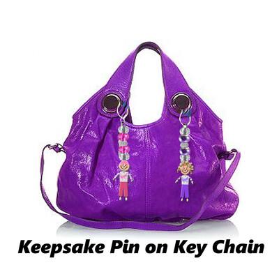 Cancer Awareness - Keepsake Pin w / Key Chain Attachment