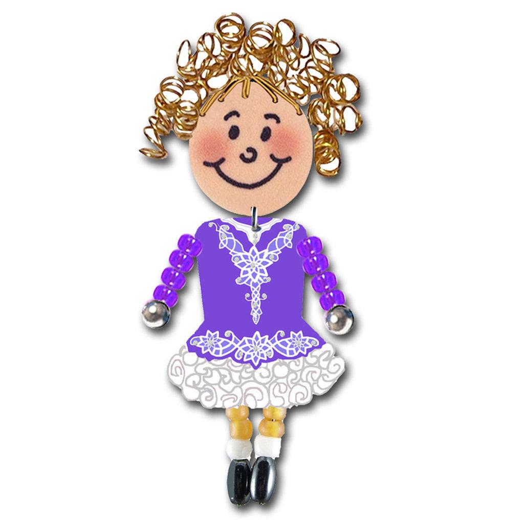 Irish Dancer - Purple, White