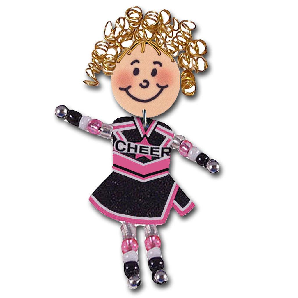 Cheer Pin - Black / Pink
