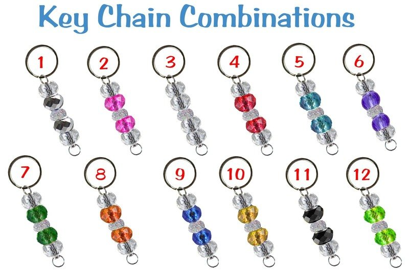 Beaded Key Chain Color Combinations