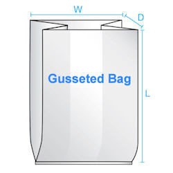10X4X20 1 Mil  1000/CTN Gusseted Poly Bag