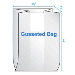 10X4X20 1 Mil  1000/CTN Gusseted Poly Bag