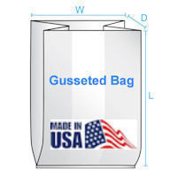 10X8X24 3 Mil  500/CTN Gusseted Poly Bag