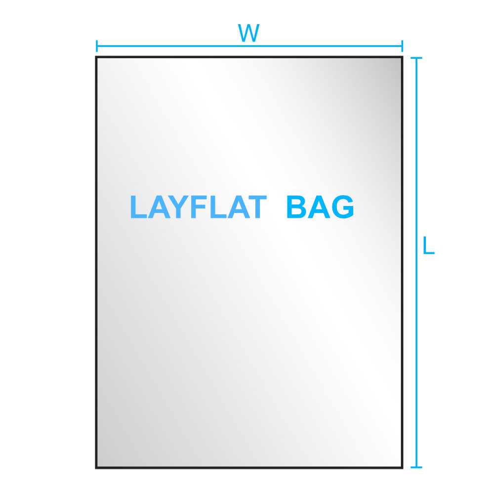 1 mil Layflat Poly Bags Case Packed  All Sizes