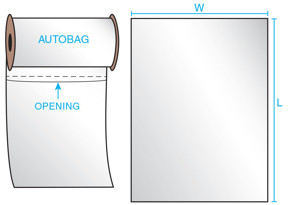 8X12 2 mil Auto Style 1000 Bags/Roll