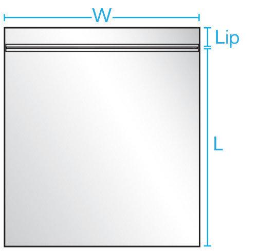 8X10 2 mil 1000/ CS Reclosable Bag w/ White Block