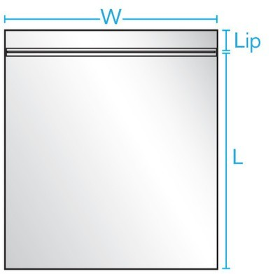 10X13 2 mil   1000/CS Reclosable Bag w/ White Block