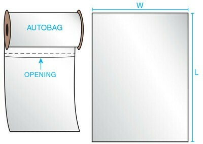 8X10 2 mil Auto Style Wht/Cl 1250 Bags/Roll