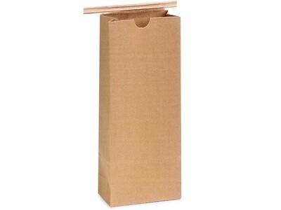 1,000 PLA Lined 1/2 lb Coffee Bags 3-3/8x2-1/2x7-3/4