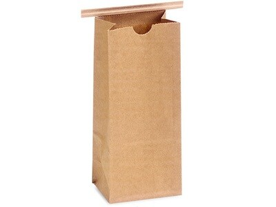 100 Paper Lined 1 lb Coffee Bags 4-1/4x2-1/2x10-1/2