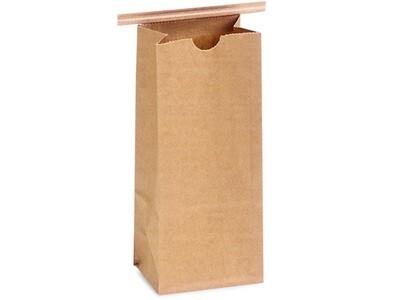 100 PLA Lined 1 lb Coffee Bags 4-1/4x2-1/2x10-1/2