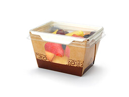 #READYFresh Kraft Container with Clear Side Windows (Small)