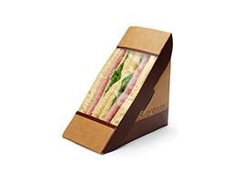 #ReadyFresh COMPOSTA Kraft Sandwich Pack with Window