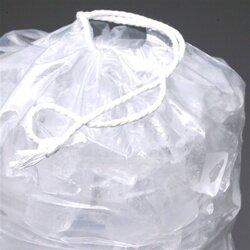 11 1/2 X 18 1.2 mils Printed Metallocene Ice Bag with Drawstring Closure -- 8 lb.
