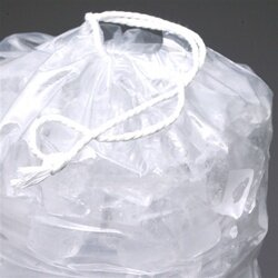 12 X 19 1.35 mils Printed Metallocene Ice Bag with Drawstring Closure -- 10 lb.