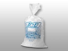 11 X 20 1.5 mils Printed Metallocene Ice Bag on Wicket Dispenser -- 8 lb.