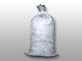 13 1/2 X 28 1.75 mils Plain Metallocene Ice Bag -- 20 lb.
