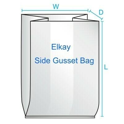 5 1/2 X 4 3/4 X 19 1 mil Low Density Gusset Bag 1,000/cs