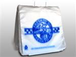 "10 X 8 + 1 LP + 2 FB Flip Top Saddle Pack Deli Bag -- Printed ""Fresh to Go"" One Color 0.5 mil 2,000/cs"