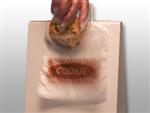 "5 1/2 X 5 1/2 + 1 1/2 FB Flip Top Saddle Pack Deli Bag -- Printed ""Cookie"" One Color 0.6 mil 2,000/cs"