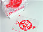 "10 X 8 Slide Seal Saddle Pack Deli Bag -- Printed ""Fresh to Go"" Red Print 1.2 mil 1,000/cs"