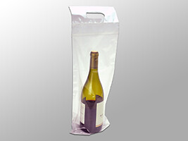 7 X 19 + 3 1/2 BG + 1 1/4 FB Wine Bag Wine To-Go Bag 2.5 mil 250/cs