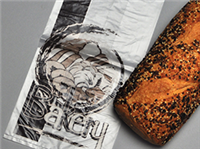 8 1/2 X 5 X 16 High Density Bakery Bag with Print 1 mil 1,000/cs