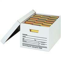 "24 x 12 x 10"" Auto-Lock Bottom File Storage Boxes"