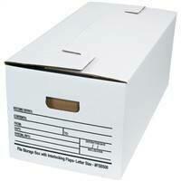"24 x 12 x 10"" Interlocking Flap File Storage Boxes"