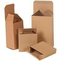 "5 1/4 x 1 x 5 1/4"" Kraft Reverse Tuck Folding Cartons"